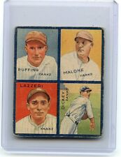 1935 GOUDEY 4-IN-1 #7D RED RUFFING, MALONE, TONY LAZZERI, BILL DICKEY, YANKEES