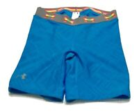 UNDER ARMOUR Women's Size S Athletic Fitted Padded Stretch Blue Shorts