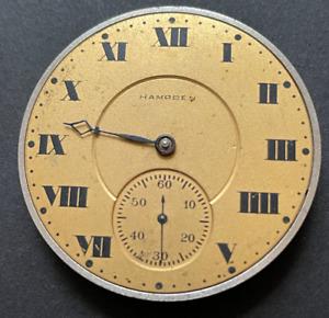 Vintage 1915 Hampden Biltmore Model 5 Watch Movement Running Ticks 12s 17j USA