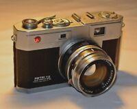Petri 35mm Rangefinder Camera Color Corrected Super F1.9 4.5cm Lens