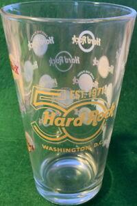 Hard Rock Cafe WASHINGTON DC 2021 HRC 50th Anniversary 50 Years PINT GLASS Logos
