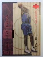1998 UD Hardcourt Jordan Holding Court Red Kevin Garnett, Michael, #'d/2300
