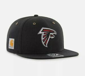 Atlanta Falcons '47 Brand Carhartt Captain Mens Black Adjustable Hat cap new