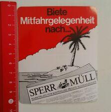 Aufkleber/Sticker: Sperr Müll Kostenlose Kleinanzeigen (26081659)