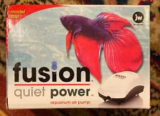JW Aquatic Pet Fusion Power Model 200 Quiet Aquarium Air Pump Up to 20 Gal