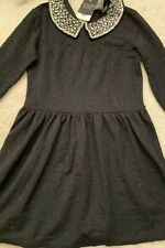 Topshop Petite Peter Pan Collar Embellished Dress New With Tags Size 8