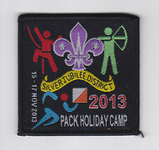 SCOUTS OF HK - SILVER JUBILEE DISTRICT (SJD) PACK HOLIDAY CAMP 2013 SCOUT PATCH