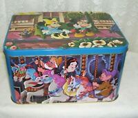 Large Vintage Walt Disney Characters Hinged Tin Box Made in England
