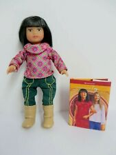"""IVY LING AMERICAN GIRL MINI 6¼"""" DOLL, RETIRED, WITH BOOK"""