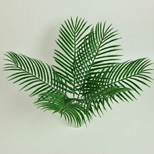 Green Palm Leaves Plastic Silk Fake Plant Artificial Flower Home Party Decor