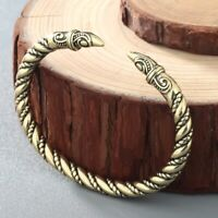 Punk Men Raven Bracelets Jewelry Twisted Wire Cuff Viking Bangles Indian Jewelry