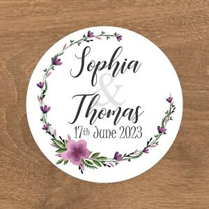Personalised Wedding Stickers Favour Labels (E-019)