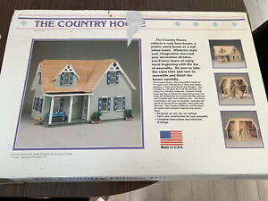 """Nos Vintage 1989 The Country House wood model G8803 precut 18"""" x 24"""" x 16-1/2"""""""