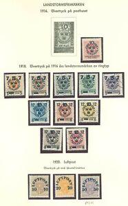 Sweden Y28 MLH/used 1916-1920 14v OVPT Air Mail