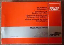 Deutz Fahr Mähdrescher M900 + M922 + M1002 Ersatzteilliste