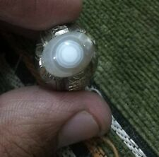 Blue Aqeeq Ring Size 10US
