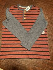 Old Navy Boys Striped Shirt Long Sleeve Size M (8) Blue/Red/Black