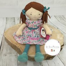Personalised Rag Doll , Floral Fran, embroidered gift