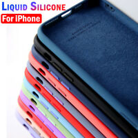 Silicone Case For iPhone 12 Pro Max 11 XR XS 8 7 SE 2 Soft Liquid Rubber Cover