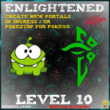 INGRESS LEVEL 10 ENLIGHTENED BOT ACCOUNT CREATE NEW PORTALS OR POKESTOP