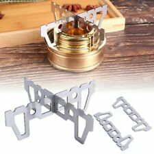 Outdoor Stainless Steel Alcohol Stove Burner Windshield Stand Hiking Camping