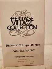 Dept 56 Dickens Village Heritage Walpole Tailors #5926-9 Nib