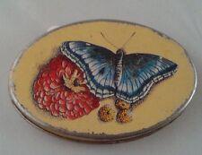 Vintage Metal Butterfly Pill Box Trinket Box