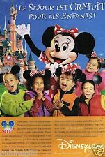 Publicité advertising 2000 Disneyland Paris