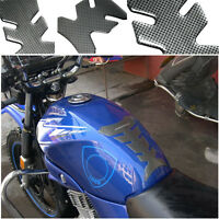3D Motorcycle Protector Sticker Gel Oil Gas Fuel Tank Pad Carbon Fiber Decal Fit