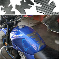 Motorcycle Gel Oil Gas Fuel Tank Pad 3D Carbon Fiber Protector Sticker Decal Fit