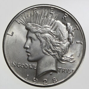 1928-P $1 PEACE SILVER DOLLAR GEM BU