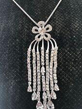 NEW Tassel Pendant Micro Pave CZ Charm Bridal Charm Necklace