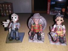"""MEZCO Cinema Of Fear Mez-Its 3"""" Figure Jason Voorhees Freddy Leatherface"""