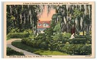 Mid-1900s Brookgreen Gardens, near Myrtle Beach, SC Postcard