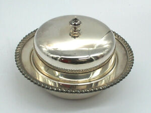 Silver Plated Lidded Butter Dish - Hecworth Reproduction Old Sheffield 1970