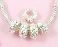 30pcs Silver Plated Charms Beads Fit Bracelet Free Shipping SY3