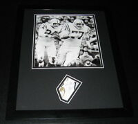 Lenny Moore Signed Framed 11x14 Photo Display Baltimore Colts