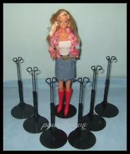 6 BLACK Kaiser BARBIE Doll Stands for Monster High Fashion Royalty