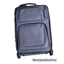 "LIGHTWEIGHT TAG 24"" UPRIGHT 4 WHEEL EXPANDABLE SPINNER LUGGAGE SILVER NEW!"