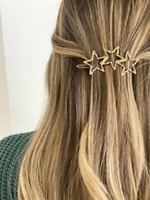 Star Trio Gold Plated Hair Clip Barrette by Alv Jewels