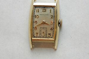 Vintage Hamilton 982 19 jewel 14K Wristwatch Running