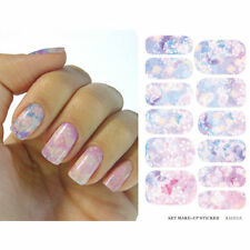 Chic Water Transfer Foil Pink Flower Nail art Stickers Manicure Film Paper Decal
