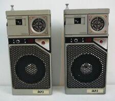 Lot of 2 Rare Vintage APC Transistor AM FM Radio Radios Hong Kong IK LK 3008