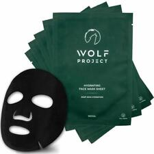 Box of 5 - Wolf Project - Sheet Mask, Hydrating Face Mask Sheets, Charcoal - Men