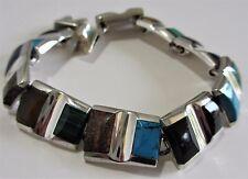0.925 Sterling Silver Multi Gems Bracelet Bernice Goodspeed Taxco, Mexico