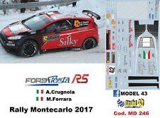 PEGATINA 1/43 - FORD FIESTA R5 - CRUGNOLA - Rally Monte carlo 2017