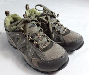 Karrimor Womens Mount Low Waterproof Walking Shoes Taupe/Green. Size UK 4 EUR37