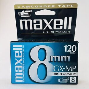 MAXELL 8 mm GX-MP Camcorder Video Tape 8mm 120 High Quality, New & Sealed