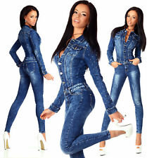 Sexy New Women's Denim Jeans Wash Playsuit Jumpsuit Overall Skinny Slim B 755