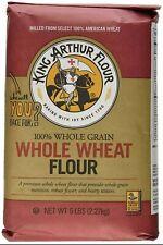 King Arthur Whole Wheat Flour - 100% Whole Grain NT Wt. 5 LB  bag